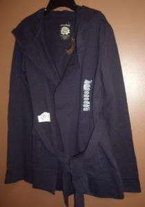 Lucky Brand Wrap W/Hood Women Sz X Large Navy