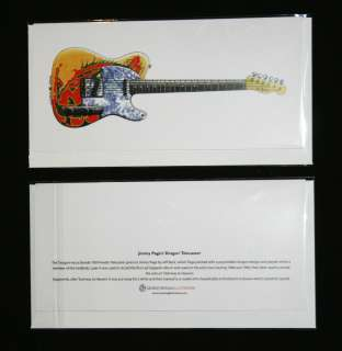 Jimmy Pages Fender Telecaster Dragon guitar Greeting Card, DL size