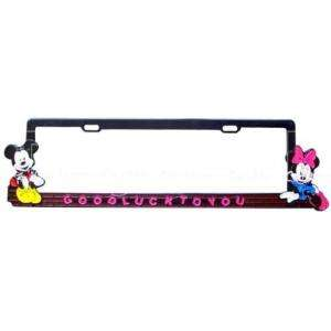 Mickey Mouse & Minnie Car Auto Licence Plate Frame 2pc