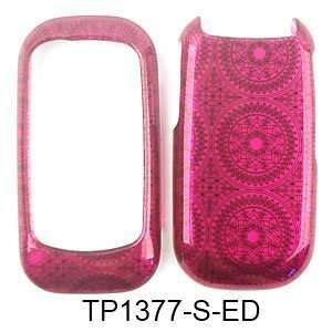 CELL PHONE CASE COVER FOR KYOCERA LUNO S2100 TRANS HOT PINK CIRCULAR
