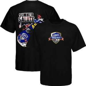 Chase Authentics Jimmie Johnson Summer Salute T Shirt   Black (Medium)