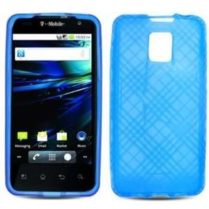 BLUE PLAID Soft TPU Gel Case Cover For LG G2X/Optimus 2X