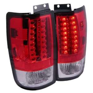 RC Red/Clear Medium LED Tail Light for Ford Expedition97 02   Pair