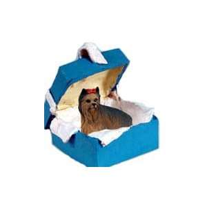 Yorkie Yorkshire Terrier Unique Gift Box Christmas Ornament