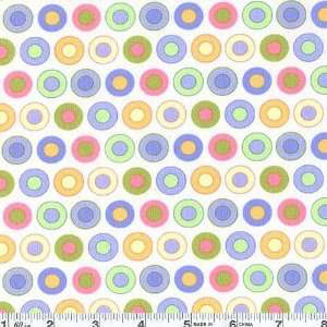 45 Wide Moda Sleepytime Baby Dots White Fabric By The