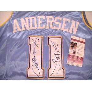 CHRIS ANDERSON SIGNED AUTOGRAPHED JERSEY DENVER NUGGETS
