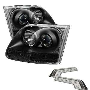 Carpart4u Ford F150 / Expedition Halo Black Projector Headlights and