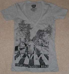 THE BEATLES Abbey Road V Neck Womens T tee Shirt NEW