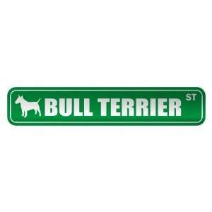 BULL TERRIER ST  STREET SIGN DOG