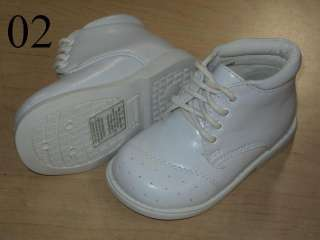 Baby Boy White Leather Christening Baptism shoes/ Size 5