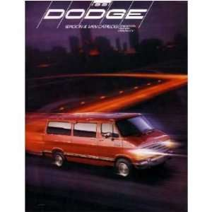 1991 DODGE WAGON VAN Sales Brochure Literature Book