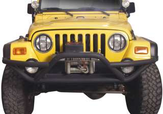 BUMPER Grill Guard 87 95 YJ Jeep Wrangler 97 06 TJ TEXT BLACK