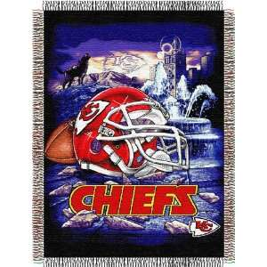 Kansas City Chiefs NFL Woven Tapestry Throw (Home Field