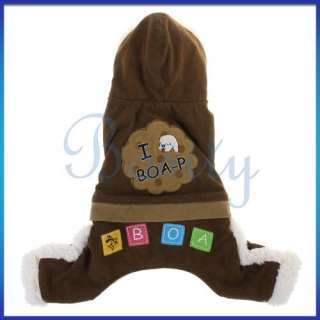 Pet Dog Warm Coat Hooded Jacket Pant Clothes Apparel Sz