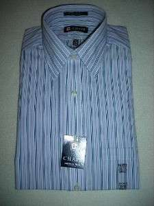 CHAPS Mens White w/PinStripe Casual Dress Shirt~$42~NWT