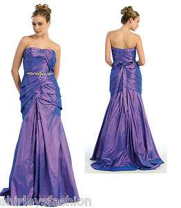 Womens Long Strapless Bridesmaid Prom Dress Evening Gown many colors