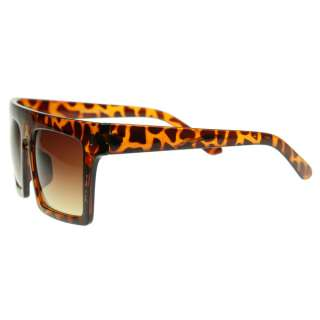 New Bold Big Bang High Flat Top Square Aviator Shades Keyhole