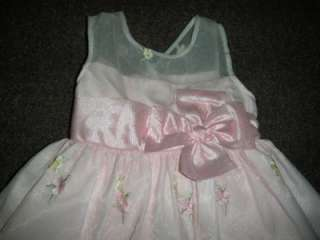 MICHELLE Toddler Girls 3T Boutique Easter Dress Floral PINK Tea Length