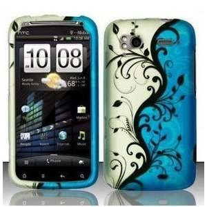 and White Background with Black Vines Flowers Hard Case Electronics