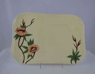 WEIL WARE YELLOW MALAY ROSE SERVING PLATTER, 9 x 13