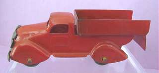 1930s Vintage MARX Toy Pressed Steel Red Delivery Truck 4 1/2