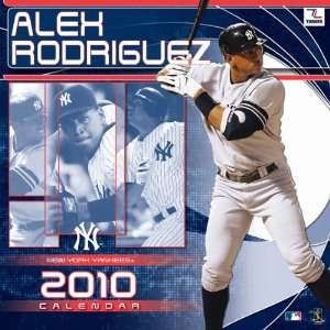 Alex Rodriguez 2010 New York Yankees 12x12 Wall Calendar