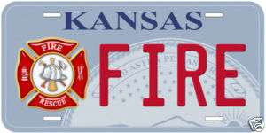 Fire Kansas Metal Novelty Car Tag License Plate