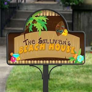 Personalized Yard Stake   Tropical Paradise Patio, Lawn & Garden