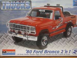 1980 FORD BRONCO 2 IN 1 REVELL MODEL KIT 1/24 NEW