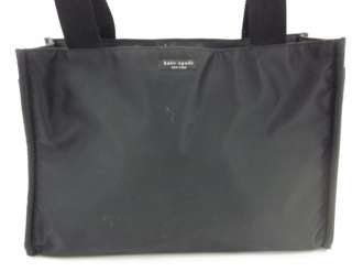 AUTH KATE SPADE Black Nylon Diaper Bag Handbag