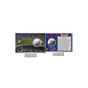 New York Giants Giant Stadium Silver Coin Card Sports