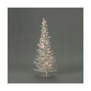2.5 Pre Lit Silver Tinsel Artificial Christmas Tree