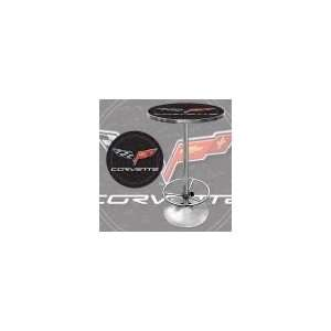 Corvette C6 Pub Table   Black