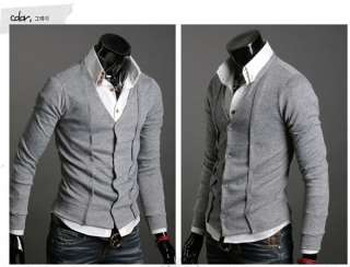 NWT Men Premium Stylish Wool Cashmere Cardigan M L XL 1580