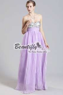 Light Purple Womens Bridesmaids Formal Gown Prom Party Gown Evening