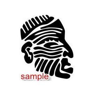 TRIBAL MD008 FACE 02 12 WHITE VINYL DECAL STICKER
