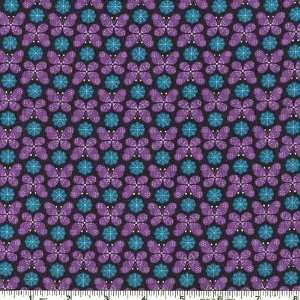 45 Wide Eden Butterfly Dot Purple Fabric By The Yard