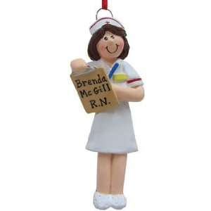 Personalized Best Nurse Christmas Ornament