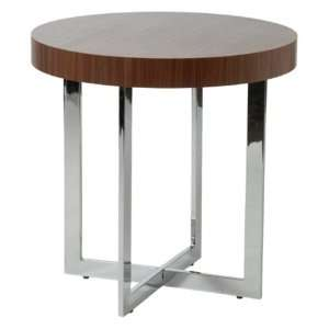 Euro Style Oliver End Table   Walnut