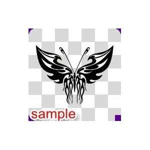 TRIBAL TRIBAL BUTTERFLY 28 10 WHITE VINYL DECAL STICKER