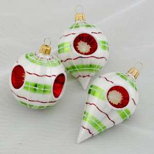 Club Pack of 96 Elegant Christmas Striped Glass Reflector