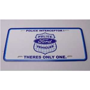 Police Ford Crown Victoria Plate Cop Interceptor