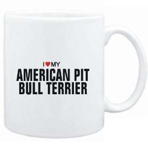 Mug White  I love my American Pit Bull Terrier  Dogs