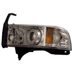 DODGE RAM 94 01 PROJECTOR HEADLIGHTS HALO CHROME BLUE