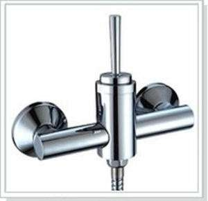 Solid Brass Chrome Wall Mount Handheld Shower Faucet