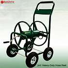 New Heavy Duty 300 Hose Reel Cart Metal Rolling Outdoor Garden