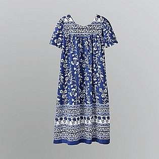 Womens Floral Lounge Dress  Loungees Clothing Intimates Sleepwear