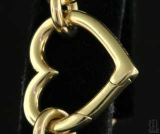 TIFFANY & CO. HEAVY 18K GOLD LOVELY ELEGANT CHAIN LINK HEART BRACELET