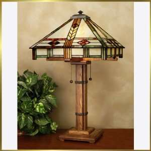 Tiffany Table Lamp, QZTF6436MO, 2 lights, Antique Bronze, 16 wide X