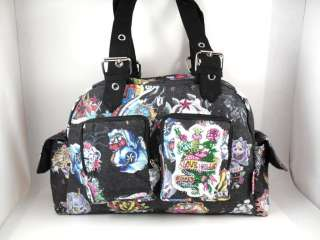 BLK BARCELONA KOI SKULL PUNK ROCKABILLY TATTOO HANDBAG